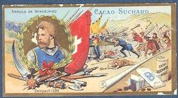 Chromo Chocolat Suchard Neuchatel Suisse Arnold De Winkelried Bataille Sempach 1386 Drapeau Autriche Lucerne - Suchard