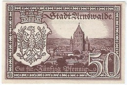 Alemania (NOTGELD) - Germany 50 Pfennig 1-8-1920 Arnswalde DNB A25 9.b UNC - [11] Emisiones Locales