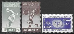 Lebanon 1959 - Mediteranean Games Beirut - Libanon