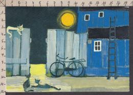 PW100/ Rosina WACHTMEISTER, Clair De Lune Avec Chats - Peintures & Tableaux