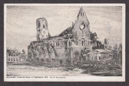 PW102/ Maurice WAGEMANS, *Nieuport, Ruine Des Halles Le 7 Septembre 1916* - Peintures & Tableaux
