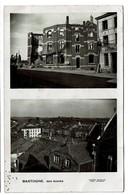 Carte Photo Circulée En 1946 - Bastogne, Ses Ruines - Photo Nicolay - 2 Scans - Bastogne