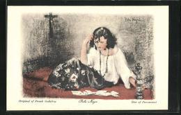 Künstler-AK Schauspielerin Pola Negri In Der Garderobe Einer Filmrolle - Attori