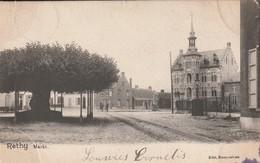 Rethy Markt  Rails Du Tram Circulé En 1902 - Turnhout