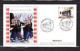 """"""" LA COMPAGNIE DES CARABINIERS DU PRINCE """" Sur Enveloppe 1er Jour De MONACO De 2011. N° YT 2791. FDC - Police - Gendarmerie"""