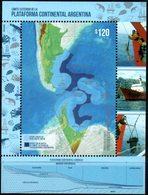 Argentina 2019 ** BF Mapa Del Límite Exterior De Plataforma Continental Argentina. Base A 200m. 200m A Límite Exterior. - Blocchi & Foglietti