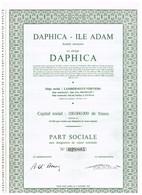 Ancien Titre - Daphica - Ile Adam - Société Anonyme - Titre De 1968 - Textile