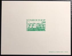 France Epreuve De Luxe 1986 Conseil De L'europe N° 93 à 95 TTB - Luxusentwürfe