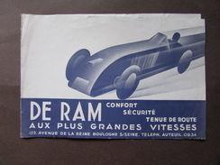 Brossura Pubblicitaria De Ram Appareil Type 63 Friction Asservie Automobilismo - Vecchi Documenti