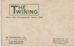 BUVARD - THÉ TWINING - CLICHY LA GARENNE - - Café & Thé