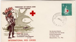 Papua New Guinea 1963 Red Cross FDC - Papouasie-Nouvelle-Guinée