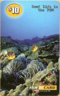 MICRONESIA - Remote Memory 10$ Card , Reef, Used - Micronesië