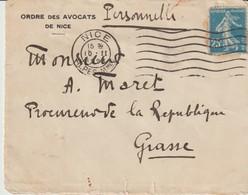 ENVELOPPE - ORDRE DES AVOCATS DE NICE - ADRESSÉE AU PROCUREUR DE LA RÉPUBLIQUE DE GRASSE - 1928 - Documentos Históricos