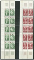 FRANCE 1970 - RED CROSS WELFARE FUND - 2 Blocks Of 10 Stamps - Total 20 Stamps - CHAPELLE DE DISSAY - Mint - France