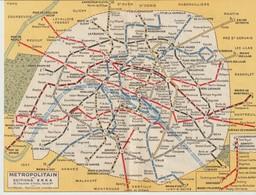 PLAN DE PARIS - MÉTROPOLITAIN - OFFERT PAR LA PRESSE - EDITIONS ERKA - - Europa