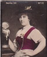 HOLDERLIN. COLORISE. CARD TARJETA COLECCIONABLE TABACO. CIRCA 1915 SIZE 4.5x5.5cm - BLEUP - Berühmtheiten