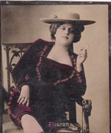 FLEURON. COLORISE. CARD TARJETA COLECCIONABLE TABACO. CIRCA 1915 SIZE 4.5x5.5cm - BLEUP - Berühmtheiten