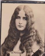 CLEO DE MERODE. CARD TARJETA COLECCIONABLE TABACO. CIRCA 1915 SIZE 4.5x5.5cm - BLEUP - Célébrités