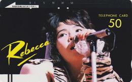 Télécarte Ancienne Japon / 110-4401 - FEMME Musique ** REBECCA ** - MUSIC WOMAN GIRL Japan Front Bar Phonecard - 3008 - Publicité