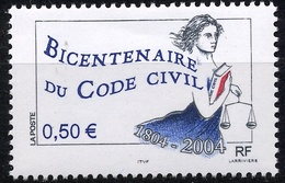 N° 3644 Code Civil Faciale 0,50 € - France