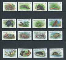 Christmas Island 1987 Wildlife Fauna Definitives First Issue Set Of 16 MNH - Christmas Island
