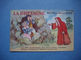 LA BRETAGNE  -  Rocher Du Val Sans Retour  -  Carte Illustrée  - - Bretagne
