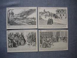 Lot De 4 Cartes Illustrées Signé CARLIER  -  Histoire De FRANCE  -  Numéros  45  -  46  -  47  -  48 - Histoire