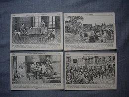 Lot De 4 Cartes Illustrées Signé CARLIER  -  Histoire De FRANCE  -  Numéros  49  -  50  -  51  -  52 - Histoire