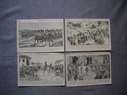 Lot De 4 Cartes Illustrées Signé CARLIER  -  Histoire De FRANCE  -  Numéros   71  -  72  -  73  -  74 - Histoire