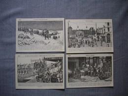 Lot De 4 Cartes Illustrées Signé CARLIER  -  Histoire De FRANCE  -  Numéros   75  -  76  -  77  -  78 - Histoire