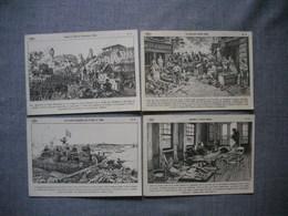 Lot De 4 Cartes Illustrées Signé CARLIER  -  Histoire De FRANCE  -  Numéros   79  -  80  -  81  -  82 - Histoire