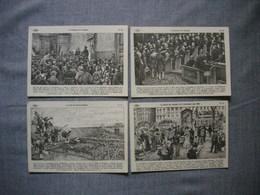 Lot De 4 Cartes Illustrées Signé CARLIER  -  Histoire De FRANCE  -  Numéros   88  -   89  -   90  -  91 - Histoire