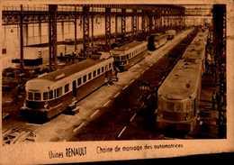 92-BOULOGNE...ILE SEGUIN...USINES RENAULT..chaine De Montage Des Automotrices...CPA - Boulogne Billancourt