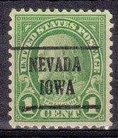 USA Precancel Vorausentwertung Preo, Locals Iowa, Nevada 632-225 - Vereinigte Staaten