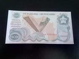 VERY RARE !!! Yugoslavia, 2000000 Dinara 1989 Unc Specimen Zero Number RARE - Yugoslavia