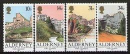 ALDERNEY, 1986 FORTS 4 MNH - Alderney