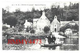 CPA - L'Eglise Et Barque Avec Des Passagers - SAINT PIERRE - Environs De LAVAL 53 Mayenne - N. G.  N° 44 - Laval