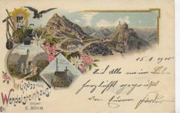 AK 0263  Gruss Vom Wendelsteinhaus ( Bes. G. Böhm ) - Lithographie Um 1900 - Miesbach
