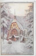 AK 0263  Semmering ( Kircherl ) - Künstlerkarte V. R. Moser / Frohe Weihnacht Um 1910-20 - Semmering