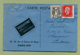 """PARIS  : """" N° 693 Marianne De Dulac Avec Un Gros Décalage D'impression """"  1946 - Variétés Et Curiosités"""