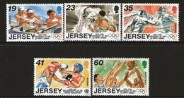 JERSEY, 1996 OLYMPIC GAMES 5 MNH - Jersey