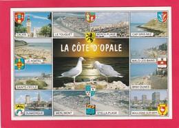 Modern Multi View Post Card Of La Cote D`Opale,Pas-de-Calais,France,B41. - France