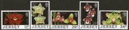 JERSEY, 1987 ORCHIDS 5 MNH - Jersey
