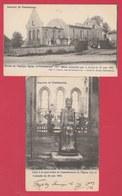 Familleureux - L'Eglise Et La Statue Miraculeuse Notre-Dame Préservée ...de L'incendie - 2 Cartes ( Voir Verso ) - Seneffe