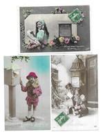 Fantaisies Lot 12 Cpa Boite Aux Lettres - Postcards