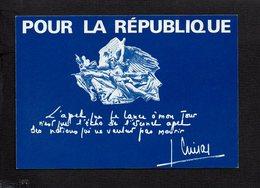 Politique / Evenement / Carte Pétition Pour Jacques Chirac,Président RPR,pour La Défense Des Institutions, Libertés... - Ereignisse