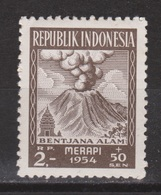 Indonesie 124 MNH ; Vulkaan, Volcano, Volcan, Gunung Merapi 1954 NOW MANY STAMPS INDONESIA VERY CHEAP - Vulkanen