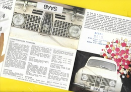 """Publicité """"SAAB""""  Format 15,5 X 9.5 Cm Plié. - Cars"""