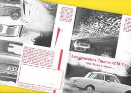 """Publicité """"FORD TAUNUS 12M""""  Format 19,5 X 10 Cm Plié. - Cars"""