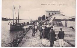 34  Hérault -  AGDE - Le Quai Du Grau - 1921 - Agde